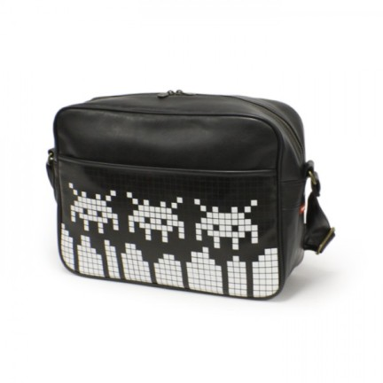 space invaders messenger bag